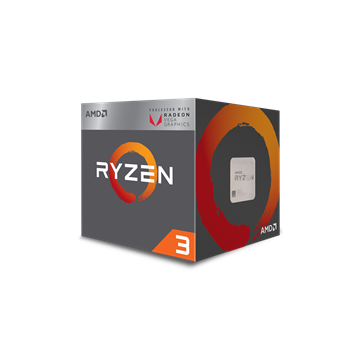 AMD AM4 CPU Ryzen 3 2200G 3.5GHz 2MB L2 4MB L3 Cache