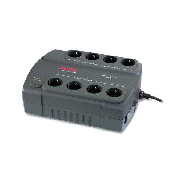 APC Back-UPS BE400-GR (ES) (4+4 Schuko) 400VA (240 W) 230V Power-Saving OFFLINE szünetmentes tápegység, torony