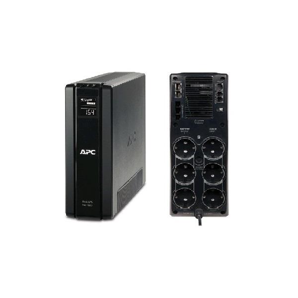 APC Back-UPS BR1500G-GR (RS) (3+3 SCHUKO) 1500VA (865 W) LCD 230V LINE-INTERACTIVE szünetmentes tápegység, torony - USB