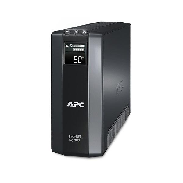 APC Back-UPS BR900G-GR (RS) (3+2 SCHUKO) 900VA (540 W) LCD 230V LINE-INTERACTIVE szünetmentes tápegység, torony - USB in