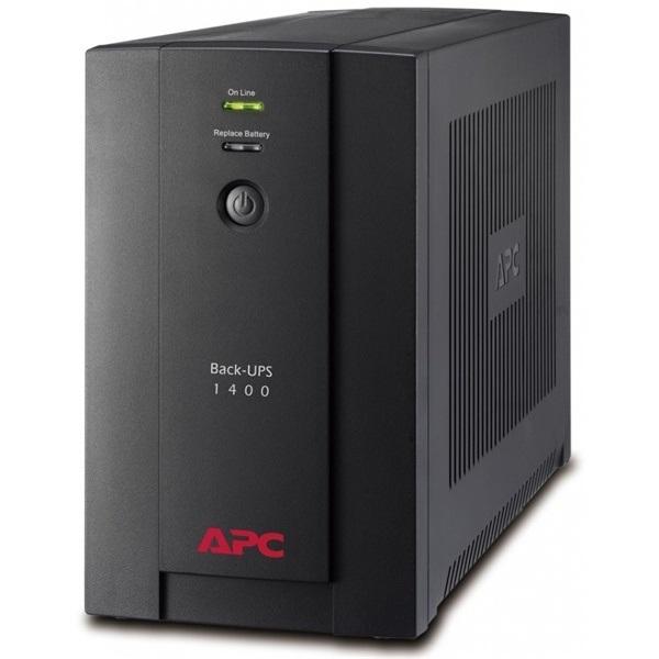 APC Back-UPS BX1400U-GR (4 Schuko) 1400VA (700 W) 230V, LINE-INTERACTIVE szünetmentes tápegység, torony