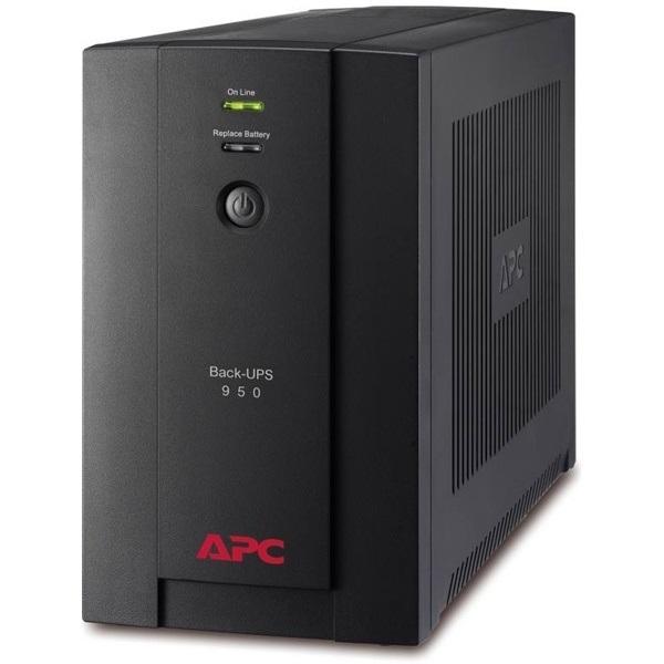 APC Back-UPS BX950U-GR (4 SCHUKO) 950VA (480 W) 230V, LINE-INTERACTIVE szünetmentes tápegység, torony, USB