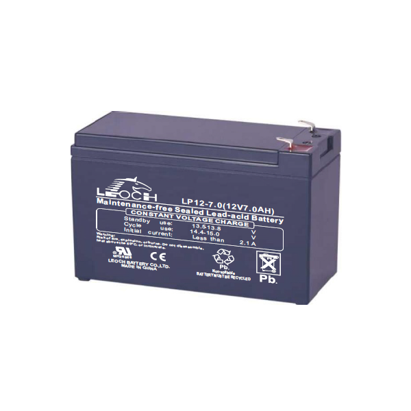 APC (LEOCH) Akkumulátor 12V/7.0Ah zárt, gondozásmentes AGM [RBC2 (1), RBC 5 (2), RBC 6 (4), RBC 9 (2), RBC8 (4),  RBC17