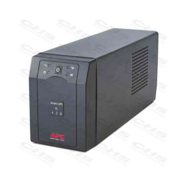APC Smart-UPS SC420I (3+1 IEC13) 420VA (260 W) 230V Power-Saving LINE-INTERACTIVE szünetmentes tápegység, torony - RS232