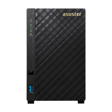 ASUSTOR NAS Storage 2 fiókos AS1002T 2x1Ghz, 512Mb RAM, 1x10/100/1000, 2xUSB 3.0
