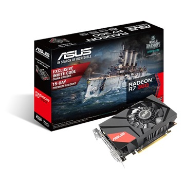 ASUS Videokártya PCI-Ex16x AMD R7 360 2GB DDR5 MINI