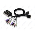 ATEN KVM Switch 2PC USB DVI + kábel