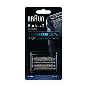 BRAUN Series 3 Cassette 32B replacement head black. For Series 3 (new generation)