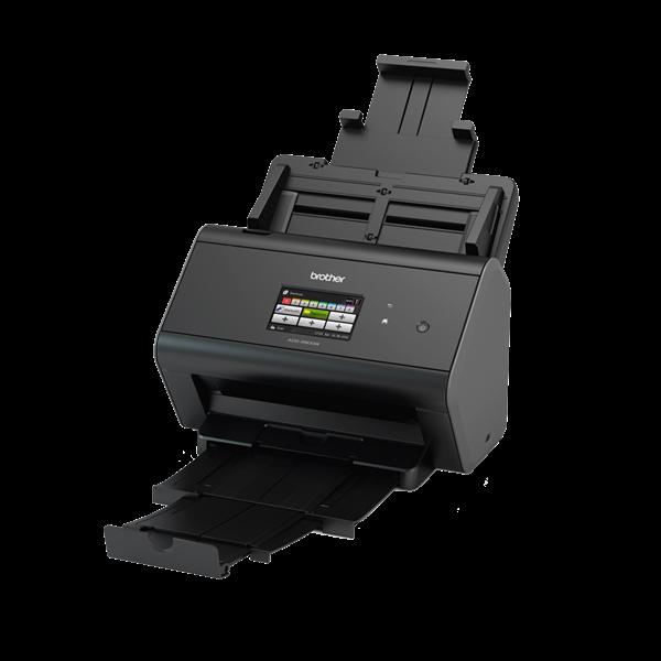 BROTHER Asztali szkenner ADS-2800W, A4, 30 lap/perc, WiFi/LAN/USB, ADF, duplex, 1200x1200dpi, 512MB, LCD kijelző