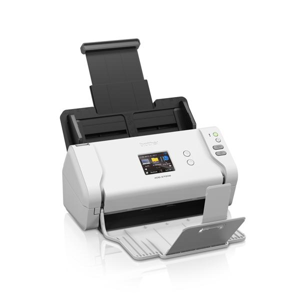 BROTHER Asztali szkenner ADS-2700W, A4, 35 lap/perc, WiFi/LAN/USB, ADF, duplex, 1200x1200dpi, 512MB, LCD kijelző