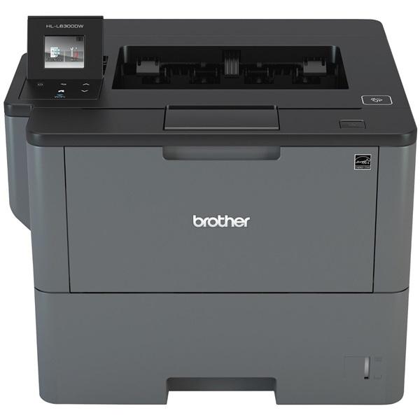 BROTHER Lézernyomtató HL-L6300DW, A4, mono, 46 lap/perc, WiFi/LAN/NFC/USB, duplex, 1200x1200dpi, 256MB