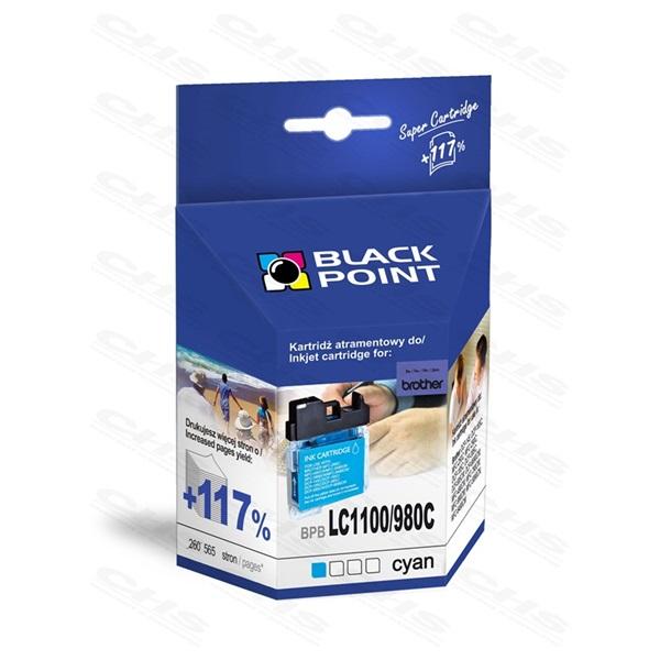 Black Point patron BPBLC1100/980C (Brother LC1100/980 C), kék
