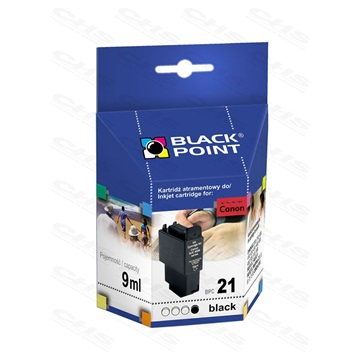 Black Point patron BPC21Bk (Canon BCI-21), fekete