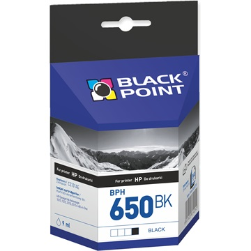 Black Point patron BPH650BK (HP NO650Bk) fekete,