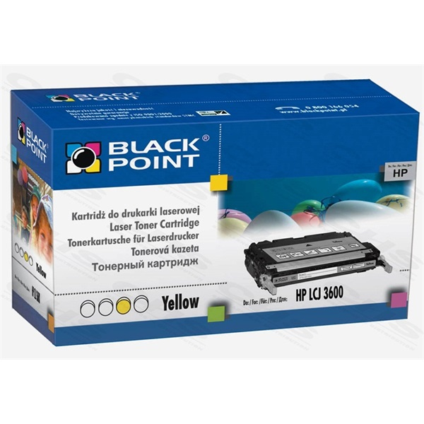 Black Point toner LCBPH3600Y (HP Q6472A), sárga