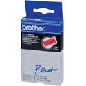 Brother Festékszalag TC401 P-Touch, 12mm piros alapon fekete