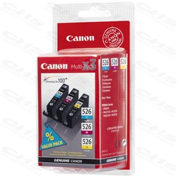 CANON Patron CLI-526MP multipack IP4850/MG5150/MG5250/MG6150/MG8150, Tri-color (C, M, Y)