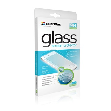 COLORWAY Képernyővédő üvegfólia CW-GSRESA510, Tempered Glass 9H ColorWay for Samsung Galaxy A5 (2016), 0.33mm, 2.5D