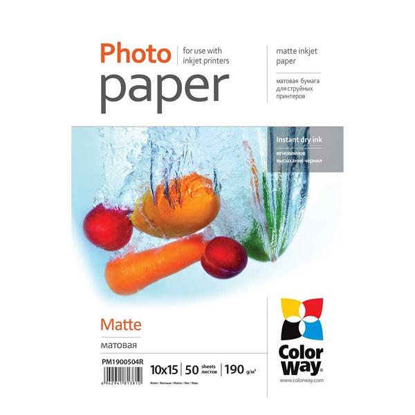 COLORWAY Fotópapír, prémium Matt, 190 g/m, 10x15, 50 lap