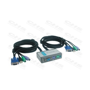 D-Link KVM Switch 2PC DKVM-2KU USB+PS/2+Kábelek