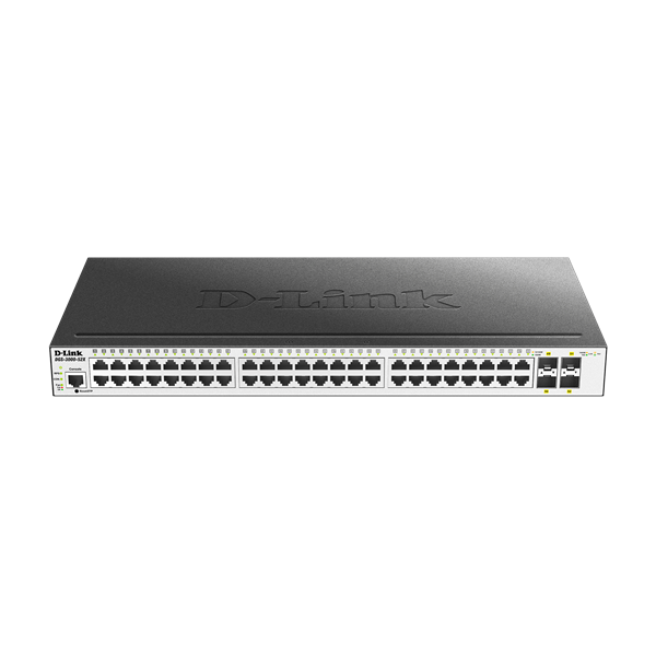D-Link Switch - DGS-3000-52X - 48x1000Mbps+4x10G SFP+ L2 1xRJ45 6 kV Surge Protection Console Port Managed