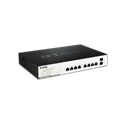 D-Link Switch 10x1000Mbps + 2xSFP DGS-1100-10MP Smart PoE 130watt (8 port PoE)