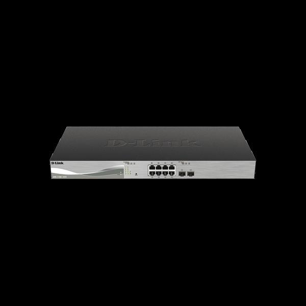 D-Link Switch 10 Port - 8x10G + 2x10G SFP+ - DXS-1100-10TS Smart Managed RM L2 2xFan