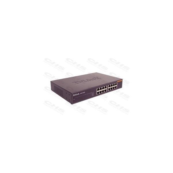D-Link Switch - DES-1016D -  16x100Mbps Desktop Fémházas Fanless Unmanaged