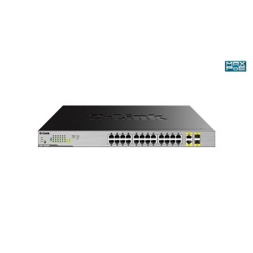 D-Link Switch 24x1000Mbps+4x1000/SFP POE 370watt