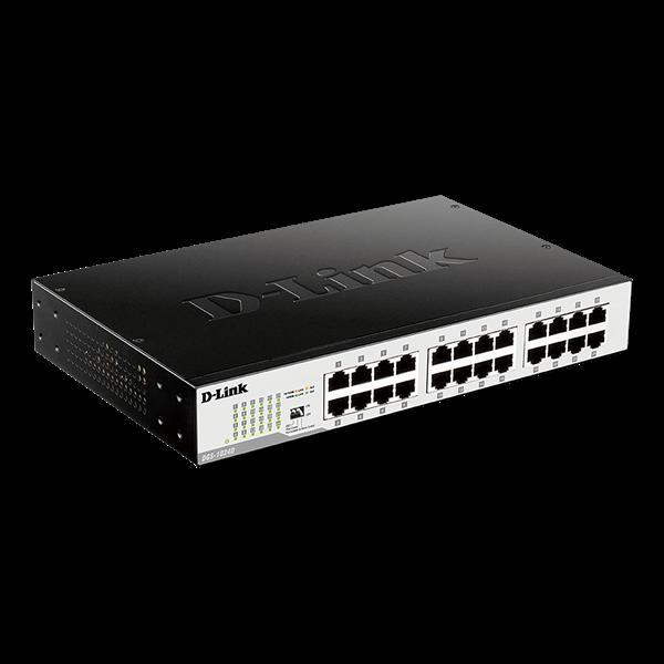 D-Link Switch - DGS-1024D - 24x1000Mbps Desktop Fémházas Fanless Unmanaged