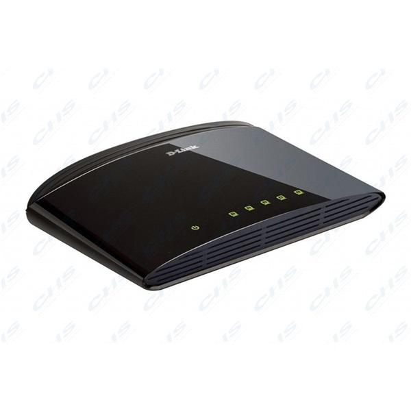 D-Link Switch - DES-1005D - 5x100Mbps Desktop Műanyag Fanless Unmanaged