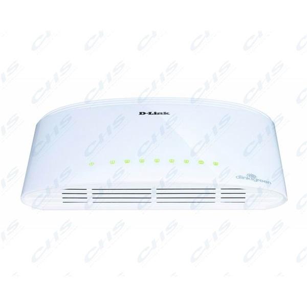 D-Link Switch - DGS-1008D - 8x1000Mbps Desktop Műanyag Fanless Unmanaged