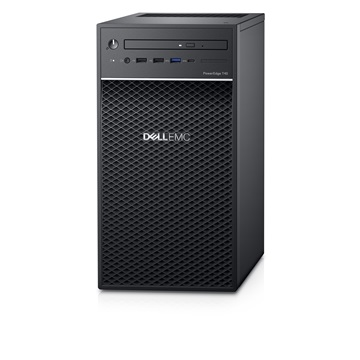 DELL EMC PE torony szerver - Mini T40, 4C E-2224G 3.5GHz, 1x8GB, 1x1TB 7.2k SATA; Software RAID.