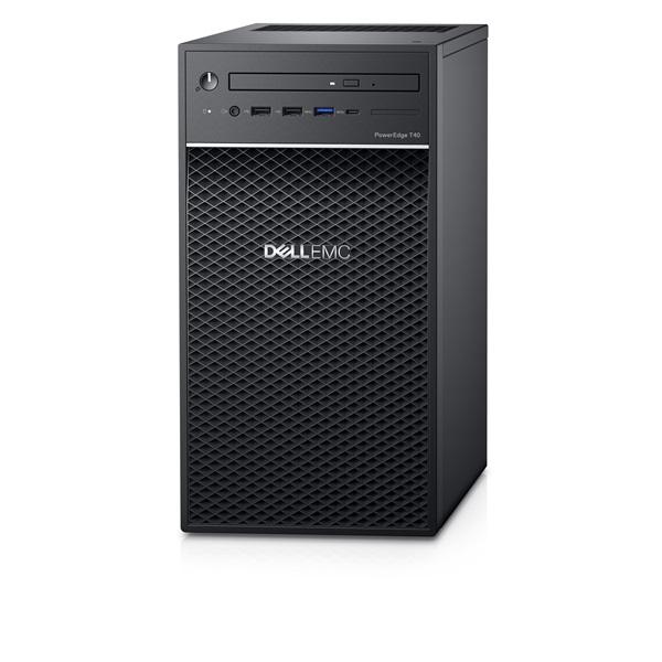 DELL EMC PE torony szerver - Mini T40, 4C E-2224G 3.5GHz, 1x8GB, 1x1TB 7.2k SATA; Software RAID.