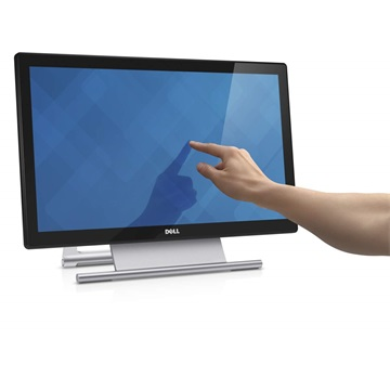 "DELL LED Monitor 21,5"" S2240T Touch 1920x1080, 250cd, 12ms Touch: 25ms, HDMI, VGA, DVI-D, fekete"