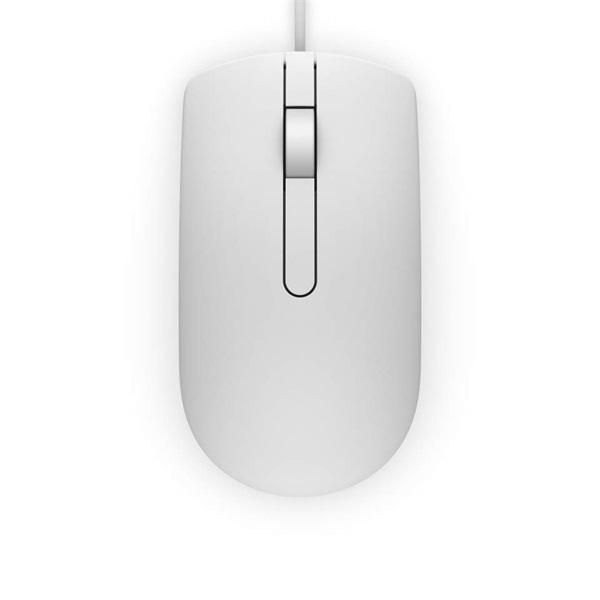 DELL Vezetékes egér, MS116 Optical Mouse - White