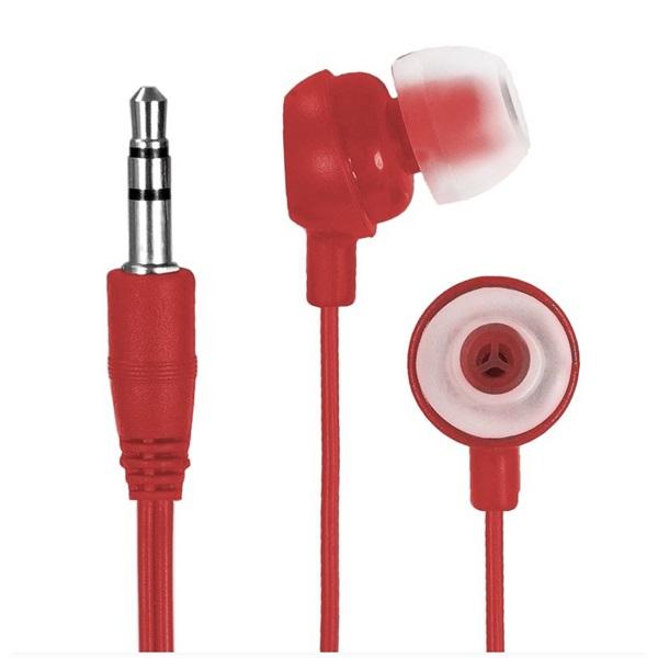 E5 FREAKY SOUND fülhallgató mikrofonnal, piros