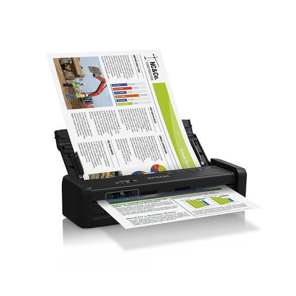 EPSON Docuscanner - WorkForce DS-360W (A4, 1200 DPI, 25 lap/perc, USB/WiFi, ADF, duplex)