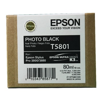 EPSON Patron Singlepack Photo Black T580100, 80ml
