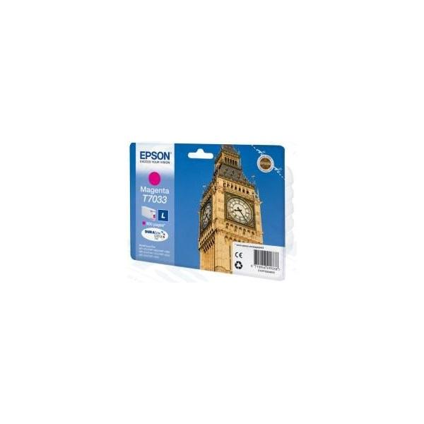 EPSON Patron WorkForce Pro WP-4000/4500 Series Ink Cartridge L Piros (Magenta) 0.8k