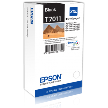 EPSON Patron WorkForce Pro WP-4000/4500 Series Ink Cartridge XXL Fekete (Bk) 4k