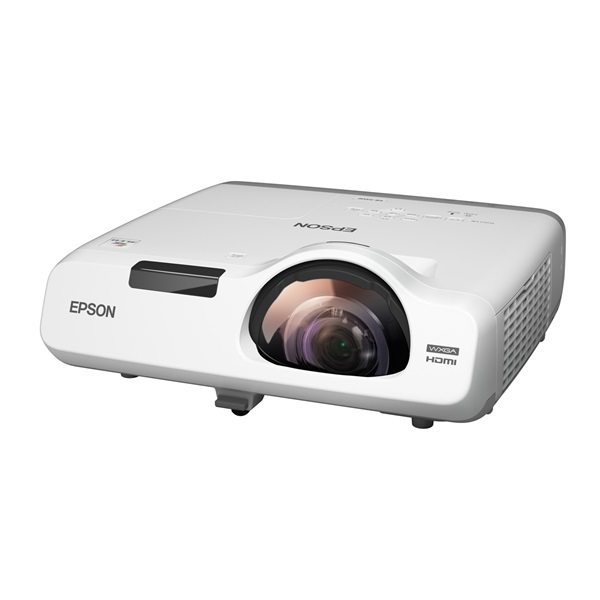 EPSON ST Projektor - EB-535W (3LCD, 1280x800 (WXGA), 16:10, 3400 AL, 16 000:1, HDMI/2xVGA/USB/RJ-45/2xKomponens/S-Video)