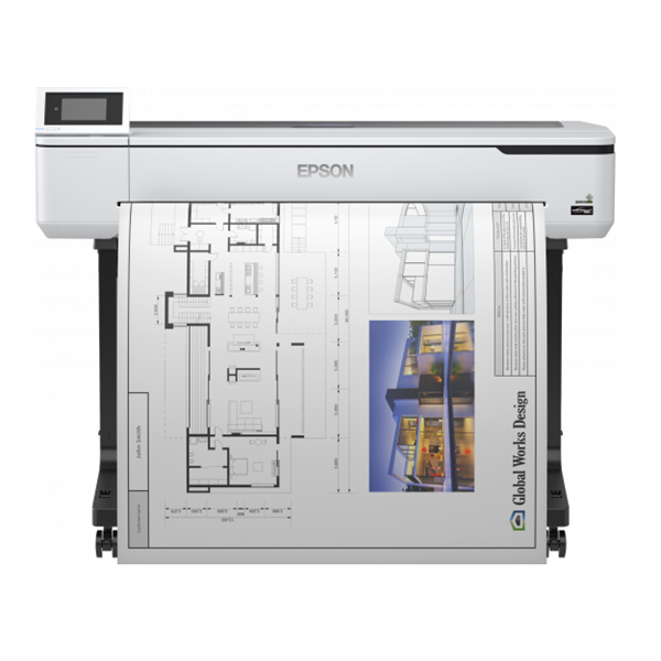 EPSON Tintasugaras Plotter - SureColor SC-T5100 (A0, színes, 2400x1200 DPI, USB/LAN/Wifi/Wifi direct)