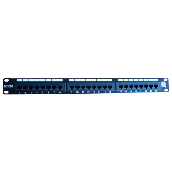 Excel CAT6 patch panel 24 portos 1U 19