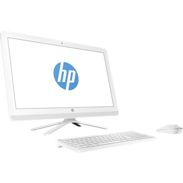 "HP AIO 24-G030NN, 23.8"" FHD AG Core i3 6100U, 4GB, 1TB, Intel HD 520, Wless egér/bill White, 2Y+1YCP, WIN10,"