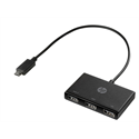 HP Adapter USB-C to USB-A Hub, fekete