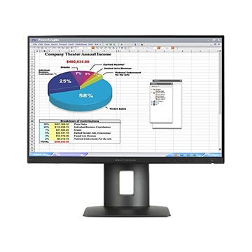 "HP LED IPS Monitor 24"" Z24n, 1920x1200, 1000:1, 300cd, 8ms, DisplayPort, DVI, HDMI, Mini DisplayPort, fekete"