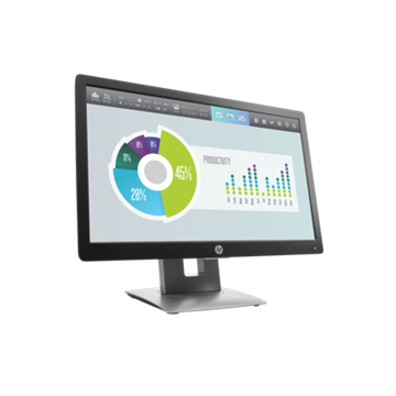 "HP LED Monitor 20"" EliteDisplay E202, 1600x900, 1000:1, 250cd, 7ms, fekete"