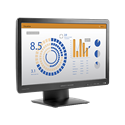 "HP LED Monitor 20"" ProDisplay P202va 1920x1080, 3000:1, 250cd, 8ms, D-sub, DisplayPort, Fekete"