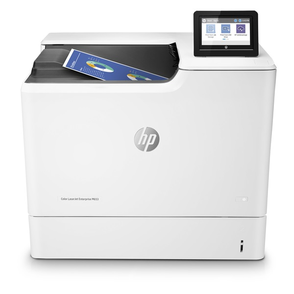 HP Lézernyomtató CLJ Enterprise M653dn, színes, 1GB, USB/Háló, A4 56 lap/perc, 1200x1200 duplex #B19